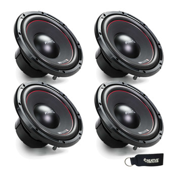 MB Quart Formula FW1-254 bundle - Four 10 Inch Dual Voice Coil 400 Watt Car Audio Subwoofers