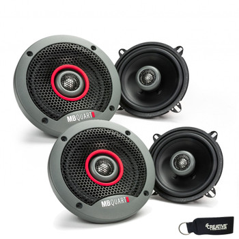 MB Quart - Two Pairs Of Formula 5.25 Inch 2-Way Coaxial Car Speakers - FKB113