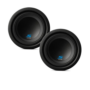 "Alpine Subwoofer Package - Two S-W8D4 S-Series 8"" Dual 4-Ohm Subwoofers"