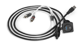 JL Audio XMD-USB/3.5MM-PNL:Combo 3.5 mm Audio Jack and 9 Wire USB Port for Panel-Mounting