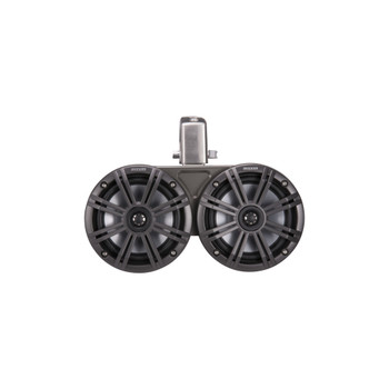 Kicker 45KMTDC65 Marine Tower Speakers with Swivel Clamps & 45KM654L Speakers Charcoal Grills with Black Enclosures