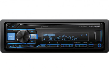 """Alpine UTE-73BT Receiver with Bluetooth & A Pair of Alpine S-S65C 6.5"""" Component Speakers & S-S65 6.5"""" Coaxial Speakers"""