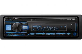 "Alpine UTE-73BT Receiver with Bluetooth & 2 Pair of Alpine S-S65 S-Series 6.5"" Speakers"