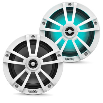 """Infinity - A Pair of 622MLW Marine 6.5 Inch LED Speakers & A 1022MLW 10"""" Marine LED Subwoofer - White"""