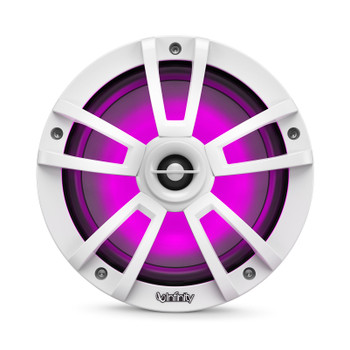 """Infinity - Two Pairs Of 822MLW Marine 8 Inch LED Speakers & A 1022MLW 10"""" Marine LED Subwoofer - White"""