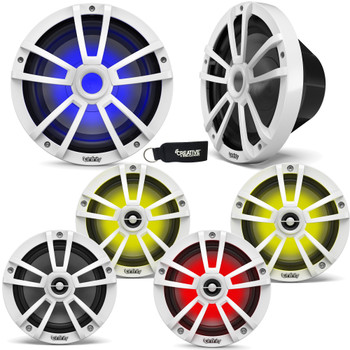 """Infinity - Two Pairs Of 622MLW Marine 6.5 Inch LED Speakers & Two 1022MLW 10"""" Marine LED Subwoofers - White"""