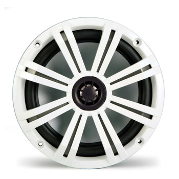 "Kicker Marine Tower Bundle 4 8"" LED Speakers and Towers in White with 400 Watt Kicker Marine Amp, With LED Controller"