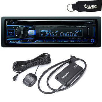 Alpine CDE-175BT CD Receiver with NFC & Bluetooth® Wireless Technology - Includes SXV300 SiriusXM Satellite Radio Tuner