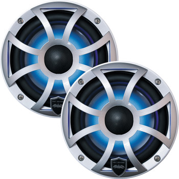 Wet Sounds - Two Pairs Of REVO 6-XSS Silver Open XS Grille 6.5 Inch Marine LED Coaxial Speakers