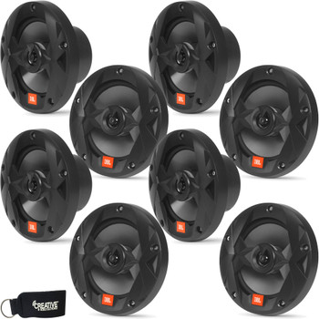 JBL MS65B - Four Pairs Of Marine MS65B 6.5 Inch Black Two-way Speakers