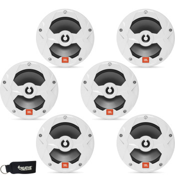 JBL MS65W - Three Pairs Of MS65W Marine 6.5 Inch White Two-way Speakers