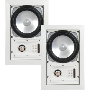 SpeakerCraft MT6 Three - In-Wall or Ceiling Speaker Includes White Grill - (Multipack of 2 pair, 4 speakers total)