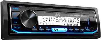 JVC KD-X35MBS Marine Radio with 6.5 Inch JVC CS-DR6201MW White Marine Speakers