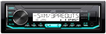 JVC KD-X35MBS Marine Radio with 6.5 Inch JVC CS-DR6200M Black Marine Speakers 2 Pair 4 Total