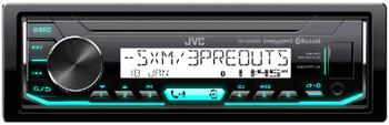 JVC KD-X35MBS Marine Radio with 6.5 Inch JVC CS-DR6201MW White Marine Speakers 2 Pair 4 Total