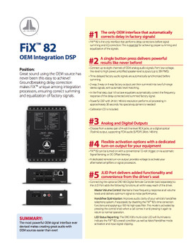 JL Audio Refurbished FiX 82 OEM Integration DSP