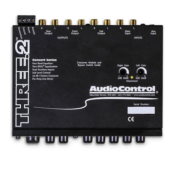 AudioControl THREE.2 In-Dash Equalizer/Crossover with Aux Inputs