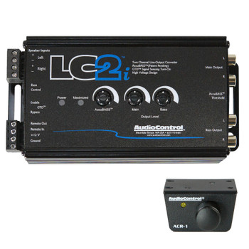AudioControl LC2i 2 Channel Line Out Converter with Accubass and Subwoofer Control, & ACR-1 Dash Remote