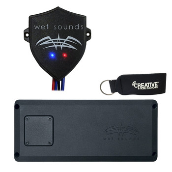 Wet Sounds STX-MICRO-4 Powersports 4-Channel Amp With WW-BTUR Hideaway Bluetooth Receiver
