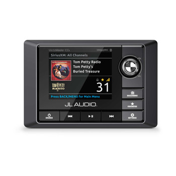 JL Audio RZR Bundle - MM100S MediaMaster, MX500/4 Amplifier, 4 Titanium Black LED VeX POD Speakers, & Stinger Amp Kit