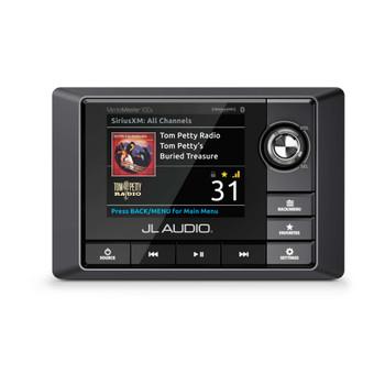 JL Audio RZR Bundle - MM100S MediaMaster, MX280/4 Amplifier, 2 Titanium Black VeX POD Speakers, & Stinger Amp Kit