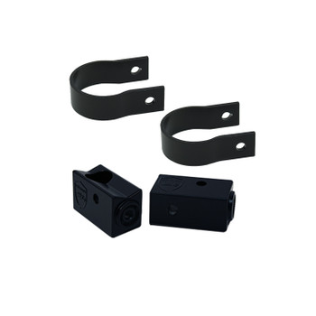 "Wet Sounds Stealth 6 Ultra HD Black + UTV Mounting Kit, Slider bracket and Round 1.5"" Tube clamp"