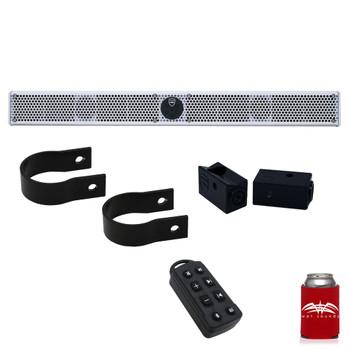 "Wet Sounds Stealth 10 Ultra HD White + UTV Mounting Kit, Slider bracket and Round 2"" Tube clamp"