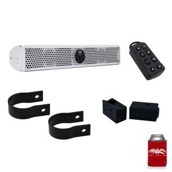 "Wet Sounds Stealth 6 Ultra HD White + UTV Mounting Kit, Slider bracket and Round 2"" Tube clamp"