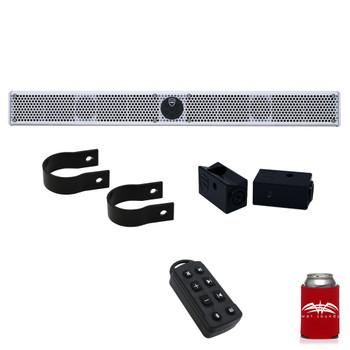 "Wet Sounds Stealth 10 Ultra HD White + UTV Mounting Kit, Slider bracket and Round 1.5"" Tube clamp"