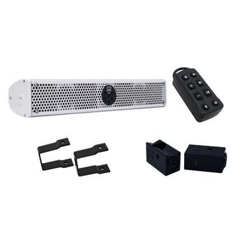 """Wet Sounds Stealth 6 Ultra HD White + UTV Mounting Kit, Slider bracket and Square 1"""" Tube clamp"""