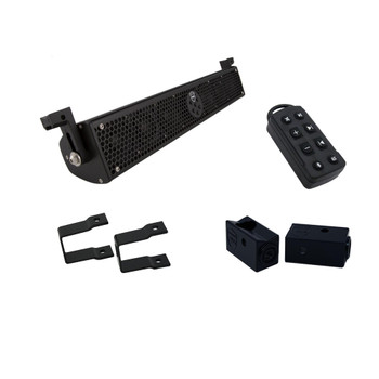 "Wet Sounds Stealth 6 Ultra HD Black + UTV Mounting Kit, Slider bracket and Square 1"" Tube clamp"