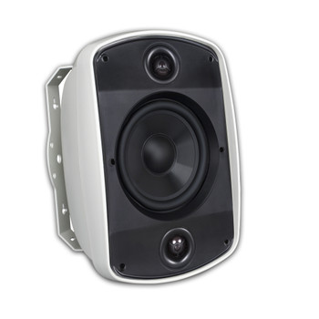 "Russound 5B65S-W 6.5"" 2-Way, OutBack Indoor/Outdoor Single Point Stereo Speaker in White - (Sold Individually)"