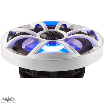 "Wet Sounds RECON6-S-RGB LED 6.5"" 60-Watt RMS Coaxial Speakers With Silver XS Grilles (Pair)"