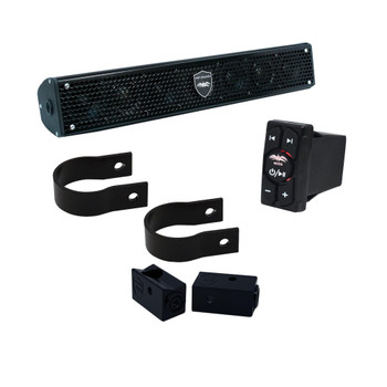 """Wet Sounds - Stealth 6 Surge Amplified Soundbar with Round 2.00"""" Pipe Mounting Hardware & WW-BTRS Bluetooth Receiver"""