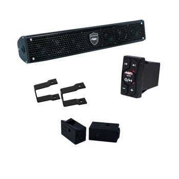 """Wet Sounds - Stealth 6 Surge Amplified Soundbar with Square 1.00"""" Pipe Mounting Hardware & WW-BTRS Bluetooth Receiver"""