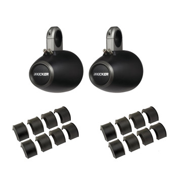 """Kicker KMTES Black 6.5"""" Empty Wake Tower/Roll Bar Enclosures with KMTAP Adapter Pack for UTVs"""