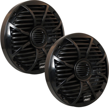 "Wet Sounds Bundle: Three pairs of SW-650-B Black Grill 6.5"" Marine Speakers, 100 Watts RMS Each"