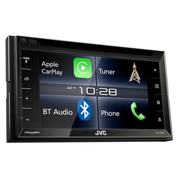 """JVC Refurbished KW-V820BT 6.8"""" In-Dash DVD Compatible with CarPlay, compatible with iDatalink Maestro"""