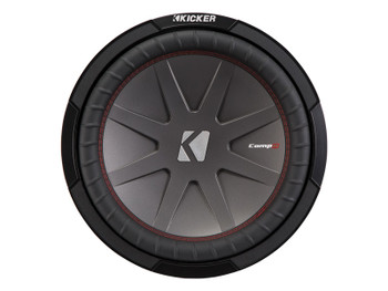 "Kicker 43CWR122 12"" CompR Subwoofers with 44KXA8001 KX-Series Amplifier and wire kit"