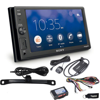 Sony XAV-AX1000 compatible with CarPlay Bluetooth Receiver (No CD),Rear Camera, SiriusXM Tuner & SWI-RC Interface