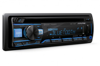 """Alpine CDE-172BT CD Receiver with Bluetooth, and Two Pairs of Kicker 43CSC654 6.5"""" Speakers"""