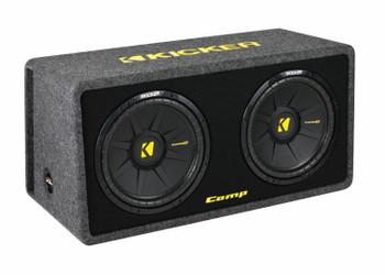 Kicker CompS 12 Inch Dual Loaded Enclosure 40DCWS122