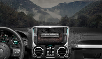 Alpine X209-WRA-OR 9-Inch Restyle System w/ Off-Road Mode & KAC-001 Accessory Controller For Jeep Wrangler JKs 2011-2018