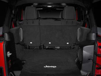 JL Audio SB-J-WRUD/10TW1/DG (DRIVER):Stealthbox® for 2007-Up Jeep Wrangler Unlimited with Gray Trunk (Driver Side)
