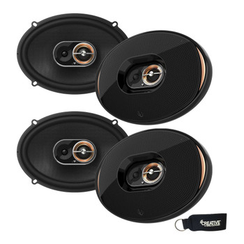 Infinity - Two Pairs Of KAPPA-93IX KAPPA 6X9 Inch three-way Coaxial Speakers