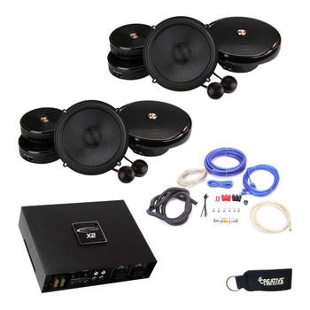 """Infinity - Two Pairs Of KAPPA-60CSX 6.5"""" Component Speakers + ARC X2 450.4 500 Watt 4 Channel Amplifier + Wiring Kit"""