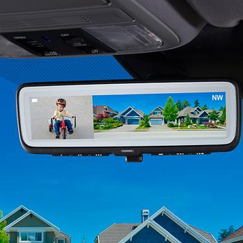 Gentex GENFDMHL2 Full Display Auto-Dimming Rearview Mirror With Homelink Garage Door Opener