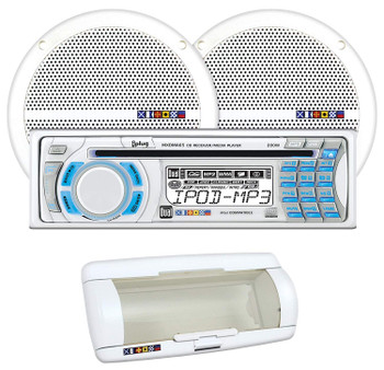 DUAL MXCP65S1 - Marine AM/FM/MP3/WMA CD receiver With a Pair 6.5-Inch Dual Cone Speakers