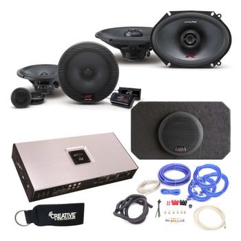 "Alpine Type-R R-S65C 6.5"" Components,  R-S68 6X8"" Speakers, SBR-S8-4 8"" Subwoofer, Arc Audio X2-1200.6 Amp & wire kit"