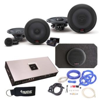 "Alpine Type-R R-S65C 6.5"" Components,  R-S65 6.5"" Speakers, SBR-S8-4 8"" Subwoofer, Arc Audio X2-1200.6 Amp & wire kit"